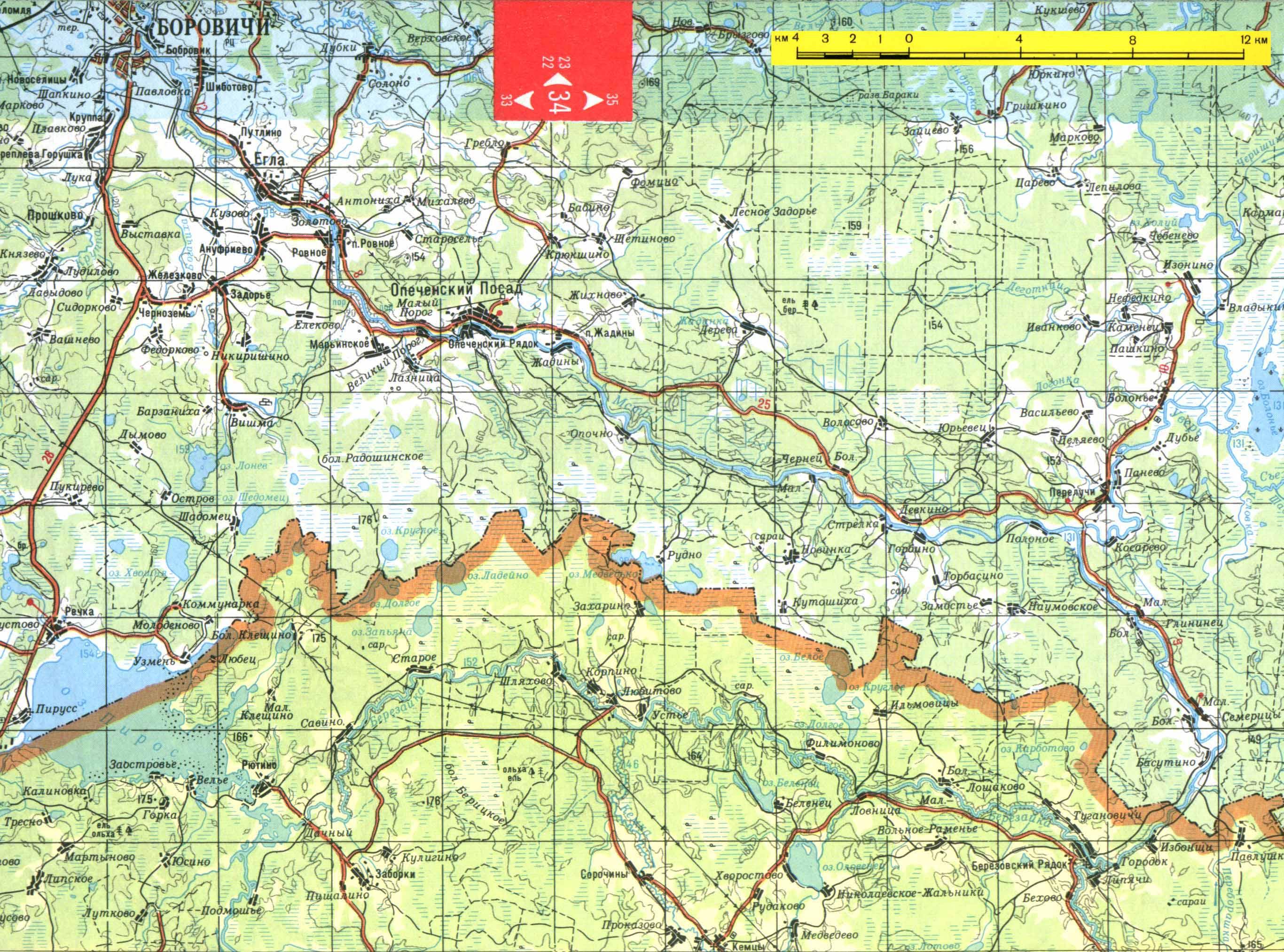 Березайка Мста Карта